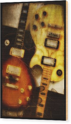 Rock And Roll Never Forgets Wood Print by Bill Cannon