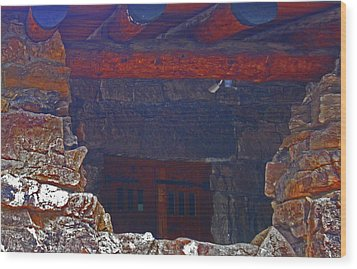 Wood Print featuring the photograph Rock Building by Tammy Sutherland