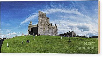 Rock Cashel Wood Print by Joerg Lingnau
