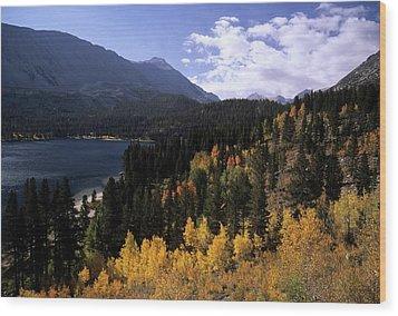 Rock Creek Lake Fall Color Wood Print by Don Kreuter