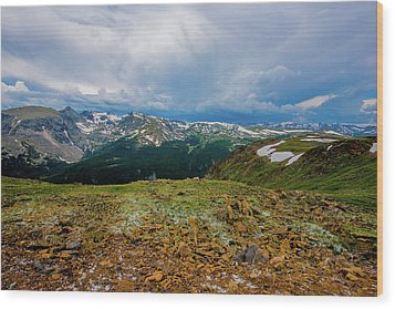 Rock Cut 2 - Trail Ridge Road Wood Print by Tom Potter