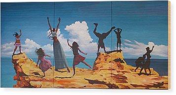 Rock Dancers Wood Print by Geoff Greene