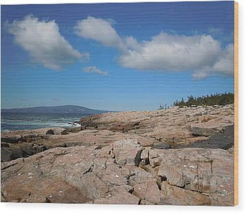 Wood Print featuring the photograph Rock Flow At Schoodic Point by Francine Frank