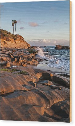 Wood Print featuring the photograph Rock Formation Along The California Coast by Cliff Wassmann