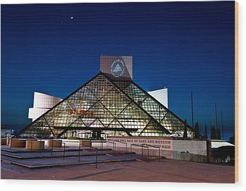 Rock Hall At Night Wood Print by At Lands End Photography