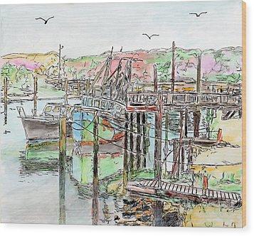 Rock Harbor, Cape Cod, Massachusetts Wood Print