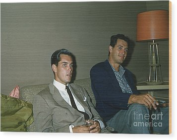 Rock Hudson And  Jeffery Hunter  Wood Print