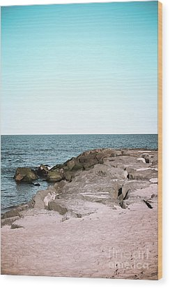 Wood Print featuring the photograph Rock Jetty by Colleen Kammerer
