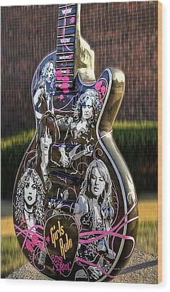 Rock N Roll...girls Rule Wood Print
