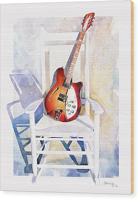 Rock On Wood Print by Andrew King