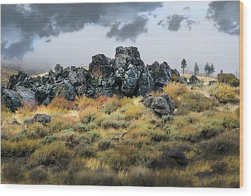 Wood Print featuring the photograph Rock Outcrop by Frank Wilson