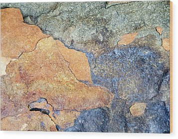Wood Print featuring the photograph Rock Pattern by Christina Rollo