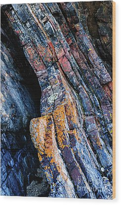 Wood Print featuring the photograph Rock Pattern Sc01 by Werner Padarin