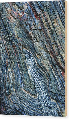 Wood Print featuring the photograph Rock Pattern Sc03 by Werner Padarin