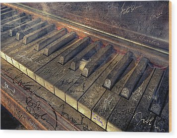 Rock Piano Fantasy Wood Print by Mal Bray