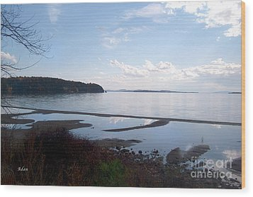 Rock Point North View Horizontal Wood Print by Felipe Adan Lerma