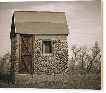 Rock Shed 2 Wood Print by Marilyn Hunt