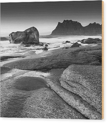 Rock Solid Wood Print by Alex Conu