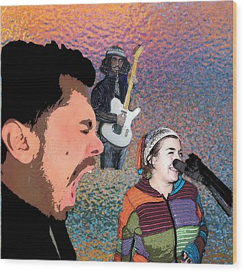 Rock Star Couple Wood Print by Penfield Hondros