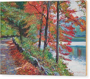 Rockefeller Park Wood Print by David Lloyd Glover