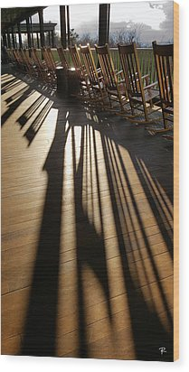 Wood Print featuring the photograph Rockers - Mohonk Mountain House by Tom Romeo