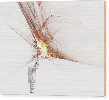 Wood Print featuring the photograph Rocket Propulsion Ignition by Jan Piller