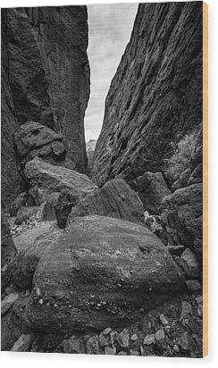 Wood Print featuring the photograph Rockfall by Alexander Kunz