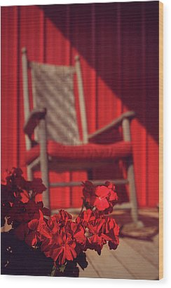 Wood Print featuring the photograph Rockin' Red by Jessica Brawley