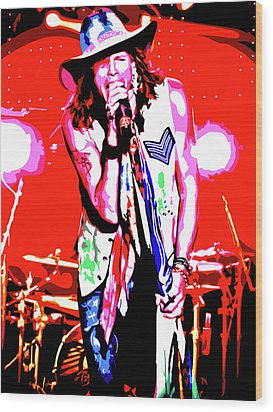 Rockin' Steven Wood Print by Nathaniel Price