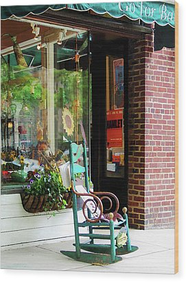Rocking Chair By Boutique Wood Print by Susan Savad