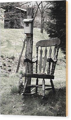 Rocking Chair Wood Print