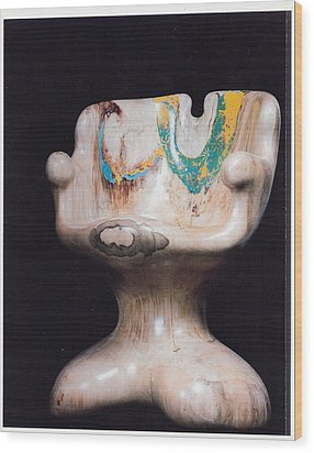Rocking Chair Wood Print by Lionel Larkin