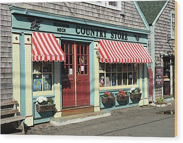 Rockport Country Store Wood Print by Lou Ford