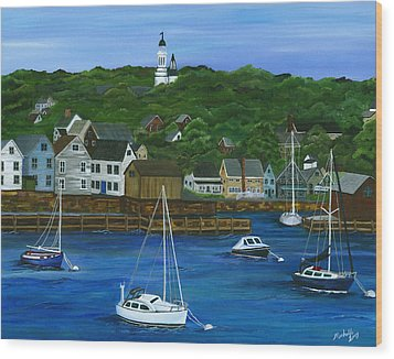 Rockport Dawning Wood Print by Michelle Joseph-Long
