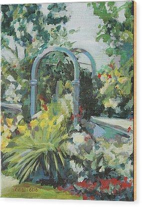Rockport Garden Gate Wood Print