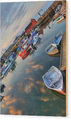 Wood Print featuring the photograph Rockport Harbor Motif #1  by Joann Vitali
