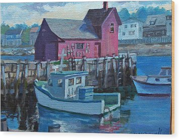 Rockport  Wood Print by Michael McDougall