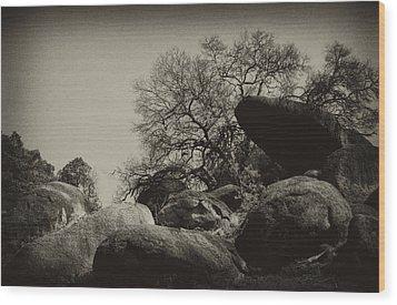 Rocks Wood Print by Amarildo Correa