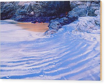 Wood Print featuring the photograph Rocks And Sand 2 by Lyle Crump