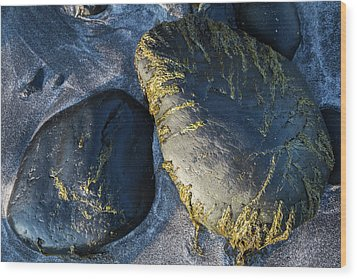 Wood Print featuring the photograph Rocks From Talisker Beach 2 by Davorin Mance
