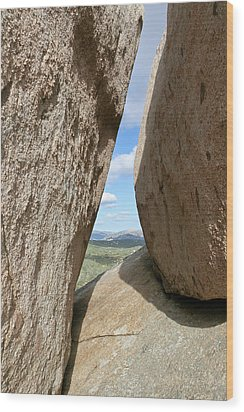 Rocks Magritte Wood Print