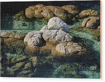 Wood Print featuring the photograph Rocks Resembling Loaves Of Bread by Susan Wiedmann