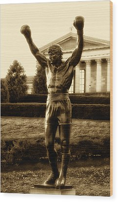 Rocky - Heart Of A Champion  Wood Print by Bill Cannon