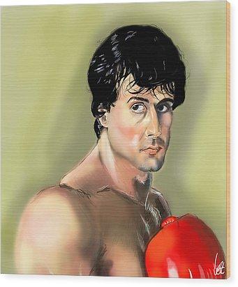 Rocky Balboa Wood Print by Vinny John Usuriello