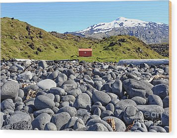 Wood Print featuring the photograph Rocky Beach Iceland by Edward Fielding