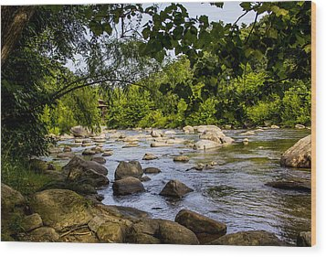 Rocky Broad River Wood Print