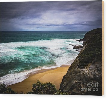 Wood Print featuring the photograph Rocky Coast by Perry Webster