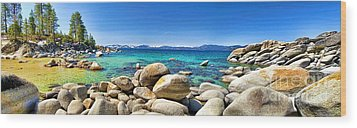 Wood Print featuring the photograph Rocky Cove Sand Harbor by Jason Abando