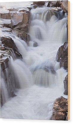 Rocky Gorge Falls Wood Print