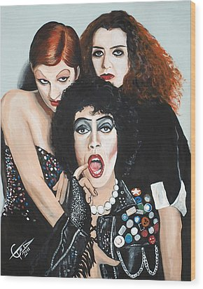 Rocky Horror Picture Show Wood Print by Tom Carlton